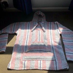 Sweaters - Baja Joe Striped Pink Woven Eco-Friend